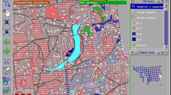 Применение ГИС Карта в лесном хозяйстве