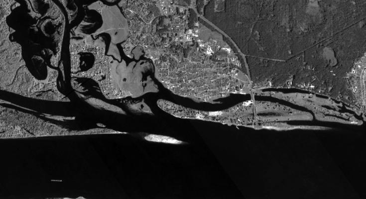 Подтопление территории поселка Кокшайск в весенний паводок