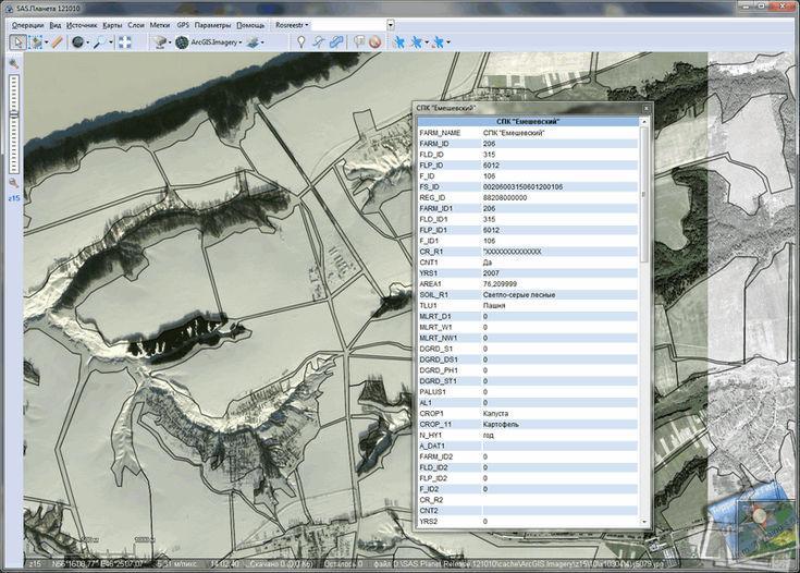 Отображение данных с геопортала на базе ArcGIS