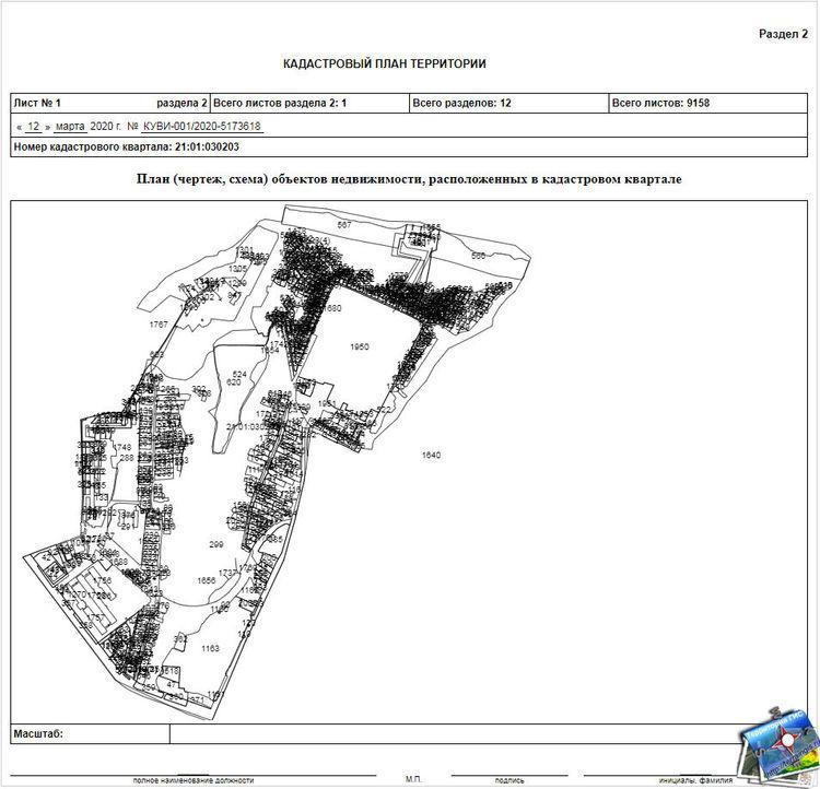 План (чертеж, схема) объектов недвижимости, расположенных в кадастровом квартале