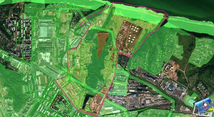 Кадастровый план территории в ГИС Панорама