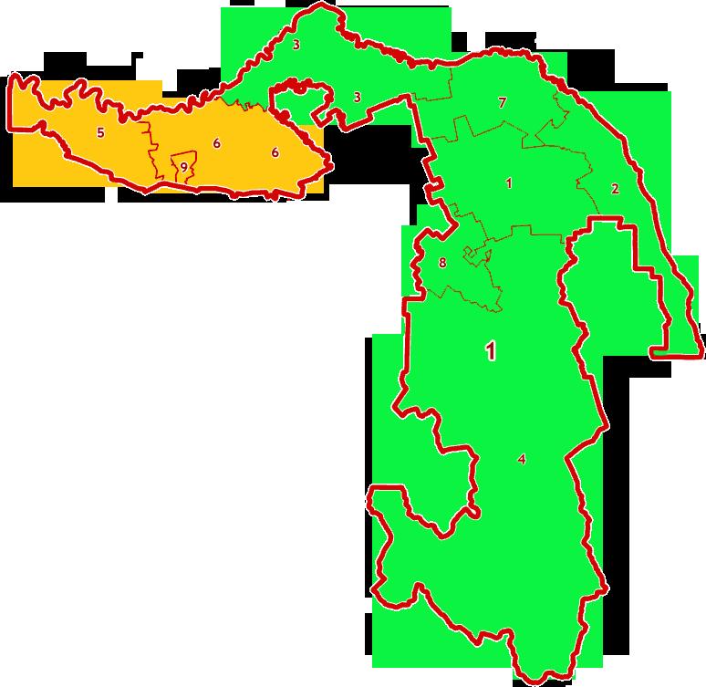 Зоны МСК-01 на территории Республики Адыгея