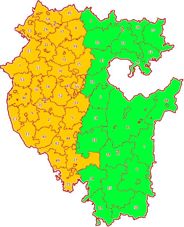 Зоны МСК-02 на территории Республики Башкортостан