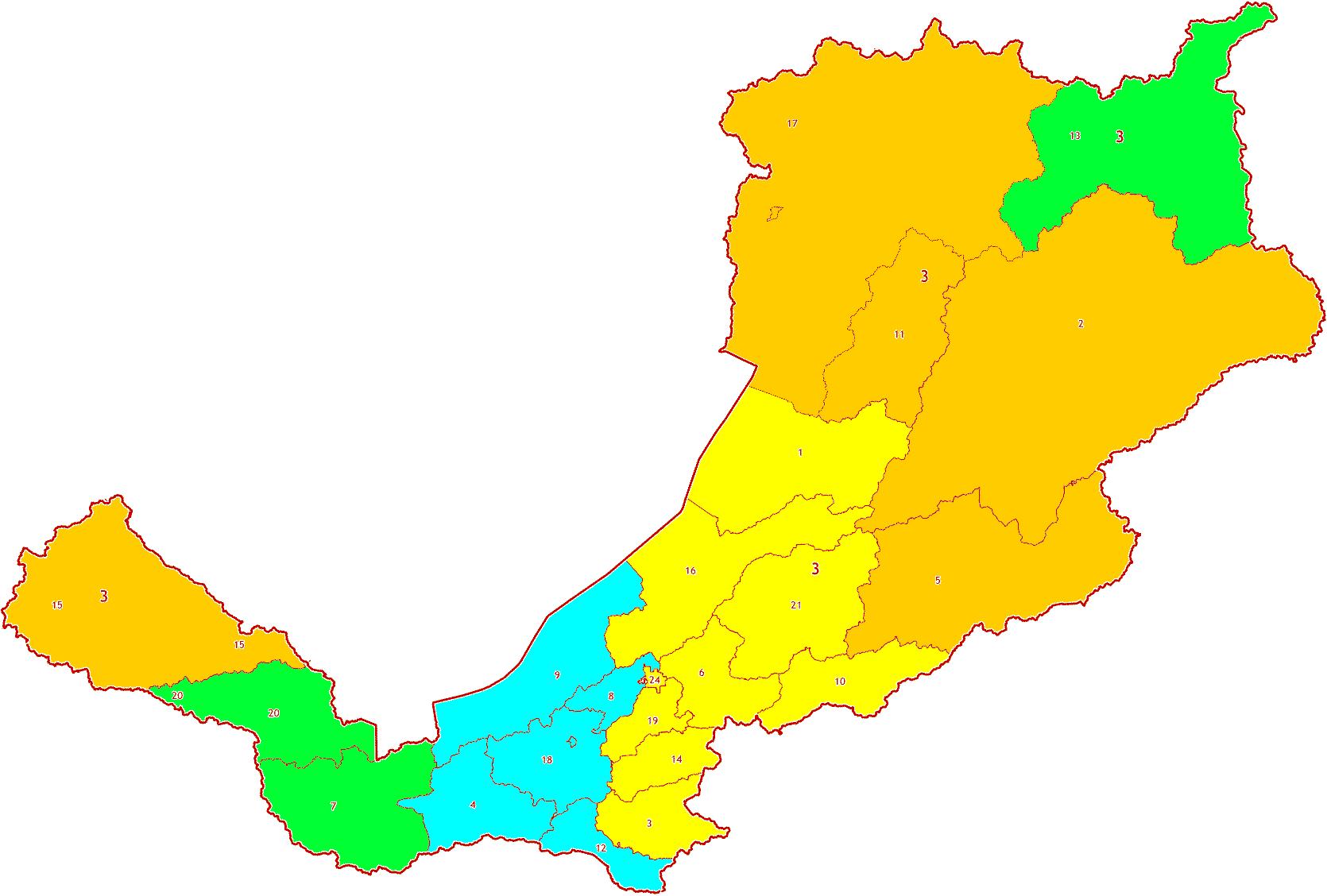 Зоны МСК-03 территории Республики Бурятия