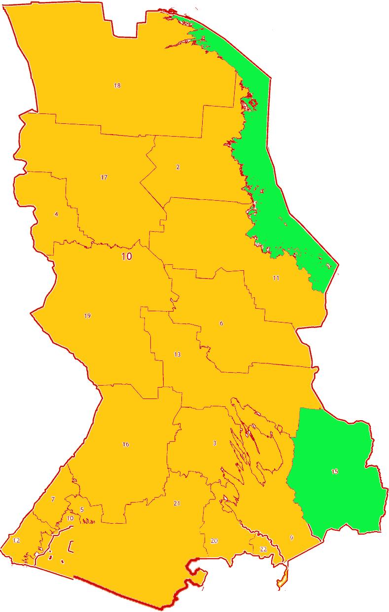 Зоны МСК-10 на территории Республики Карелия