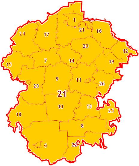 Зоны МСК-21 на территорию Республики Марий Эл