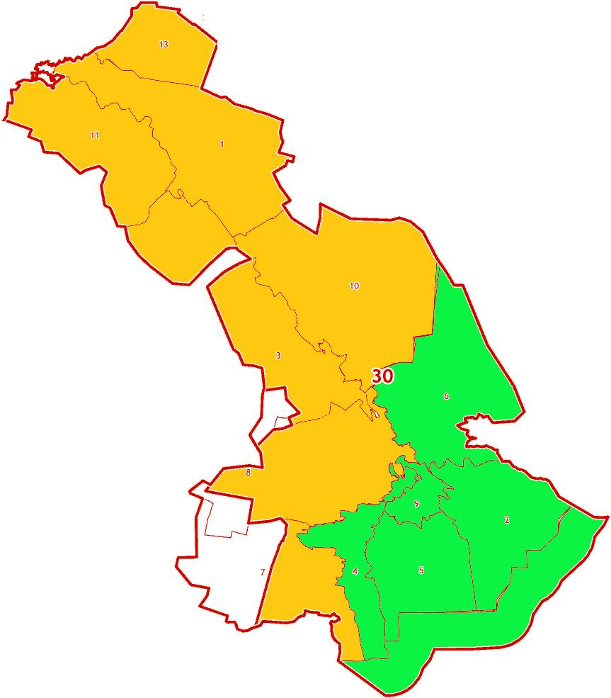 Зоны МСК-30 на территорию Астраханской области