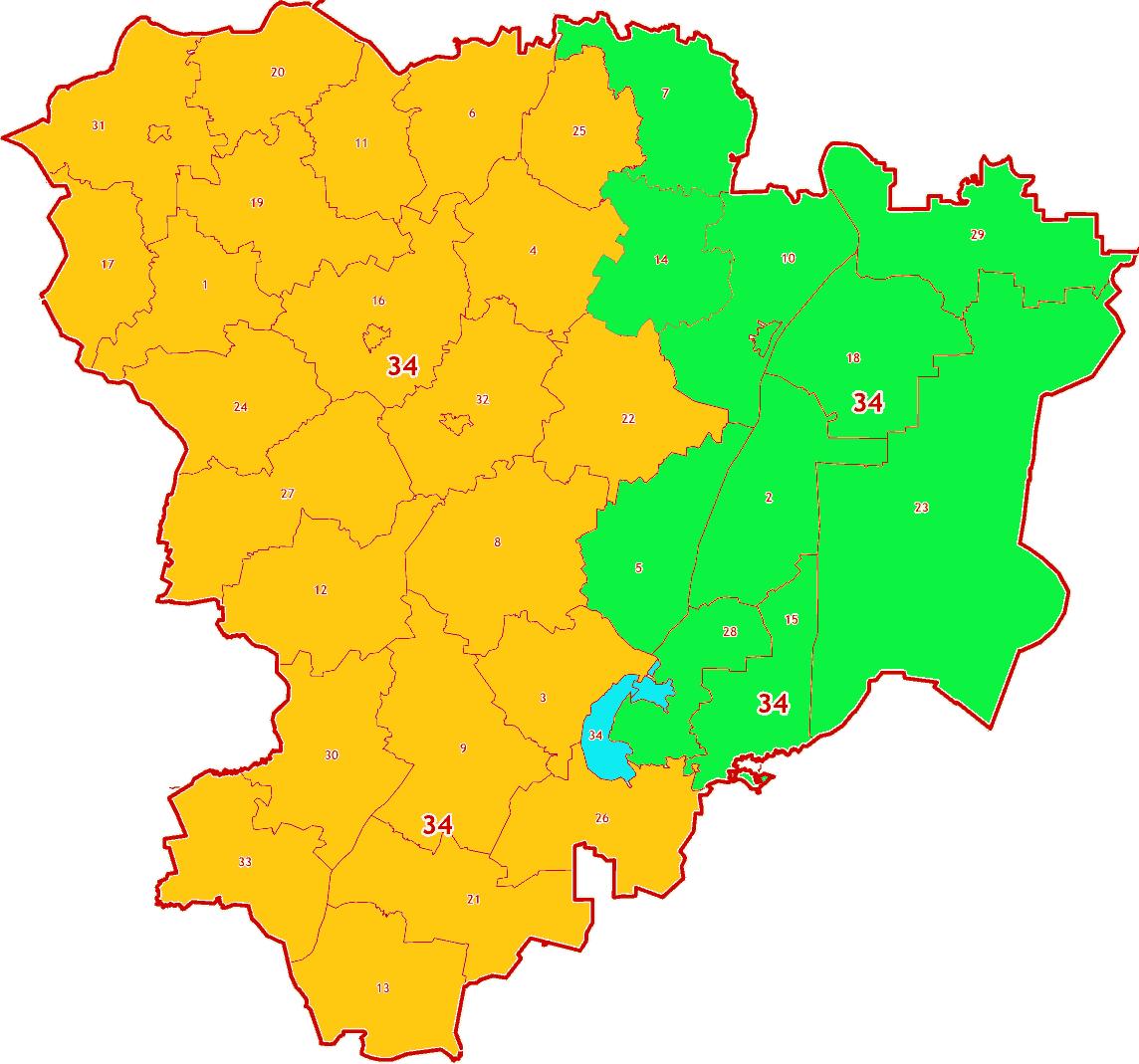 Зоны МСК-34 на территорию Волгоградской области