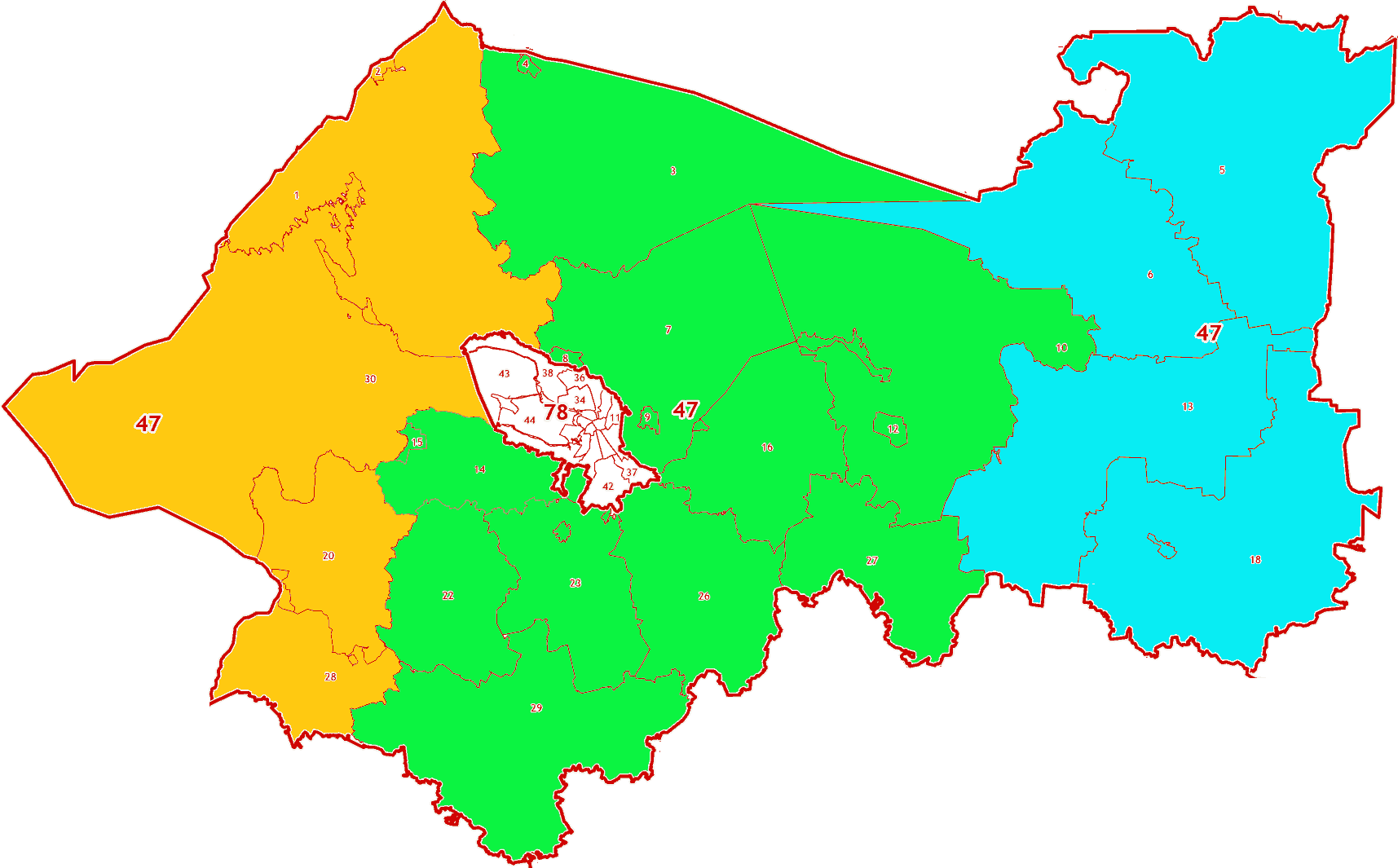 Зоны МСК-47 на территорию Ленинградской области