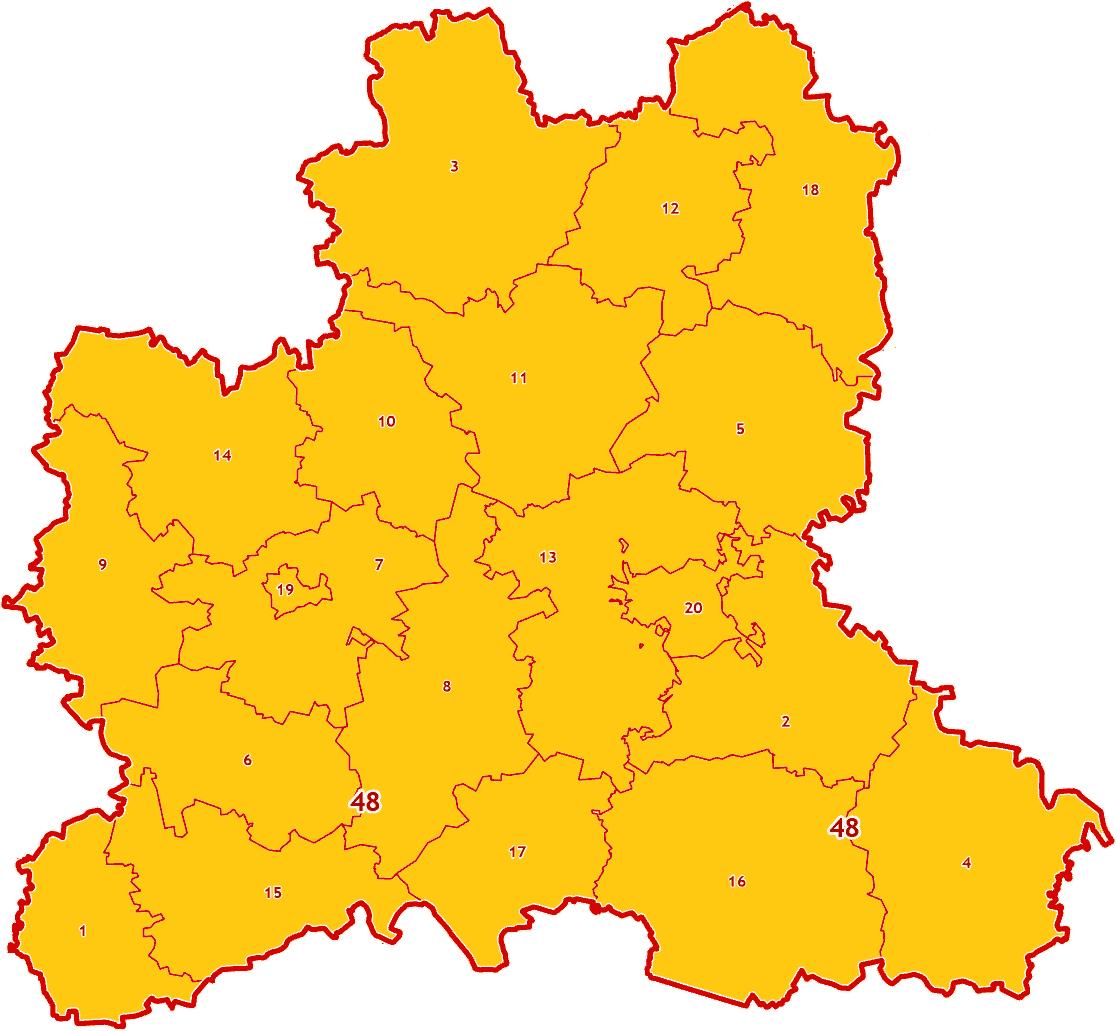 Зоны МСК-48 на территорию Липецкой области