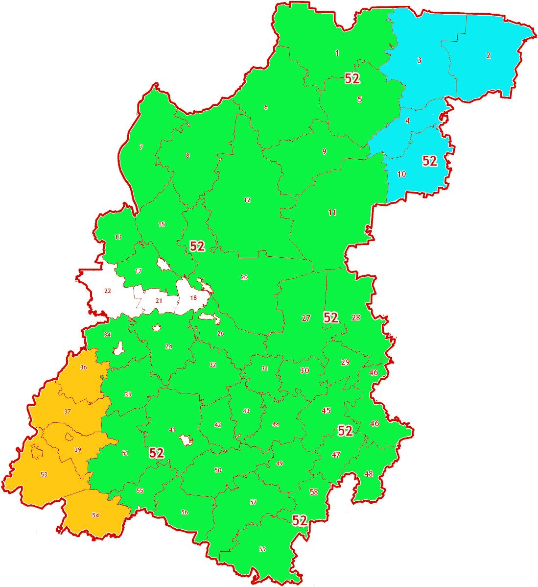 Зоны МСК-52 на территорию Нижегородской области