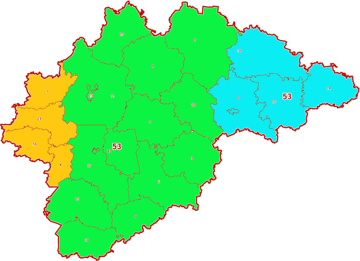 Зоны МСК-53 на территорию Новгородской области