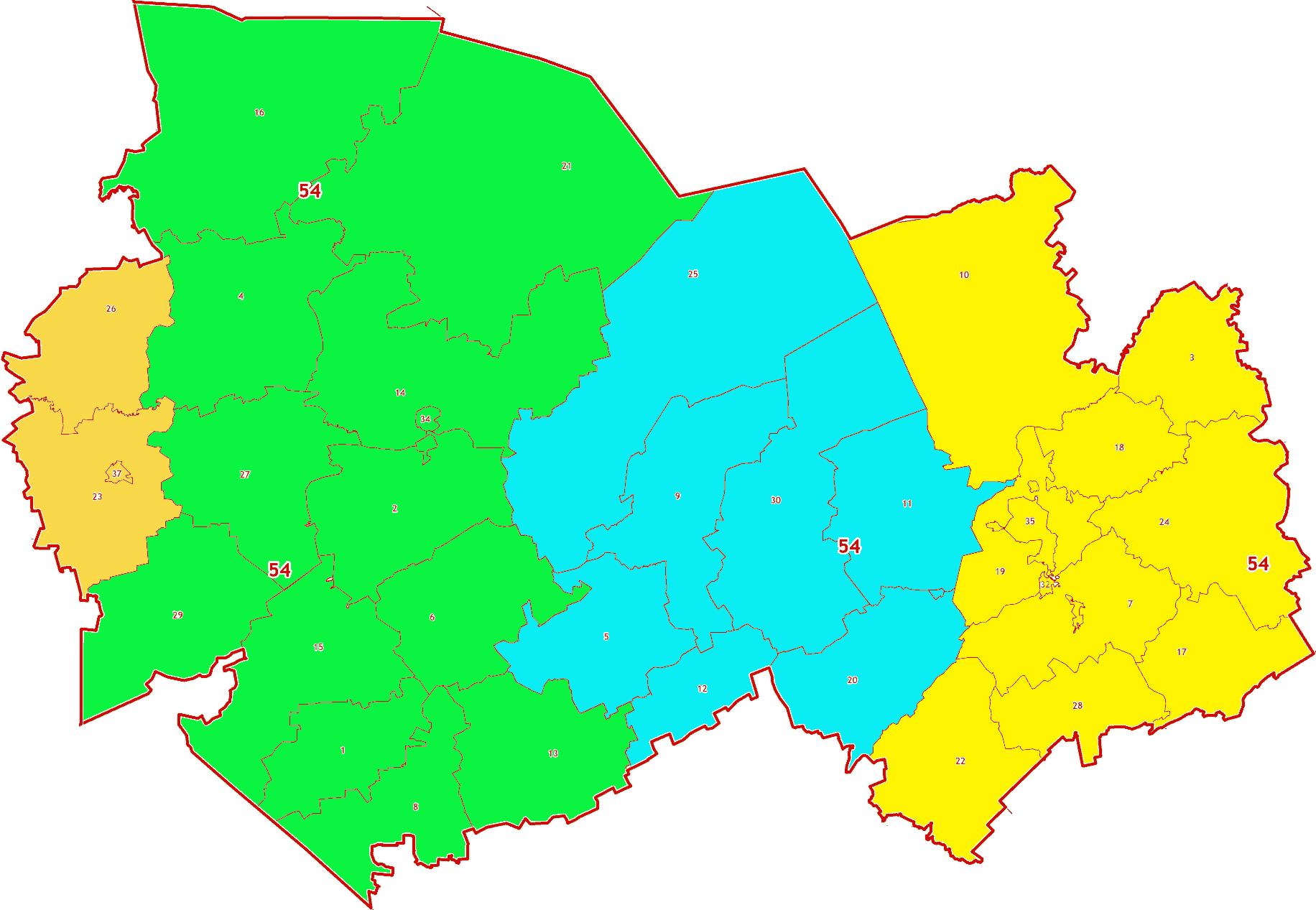 Зоны МСК-54 на территорию Новосибирской области
