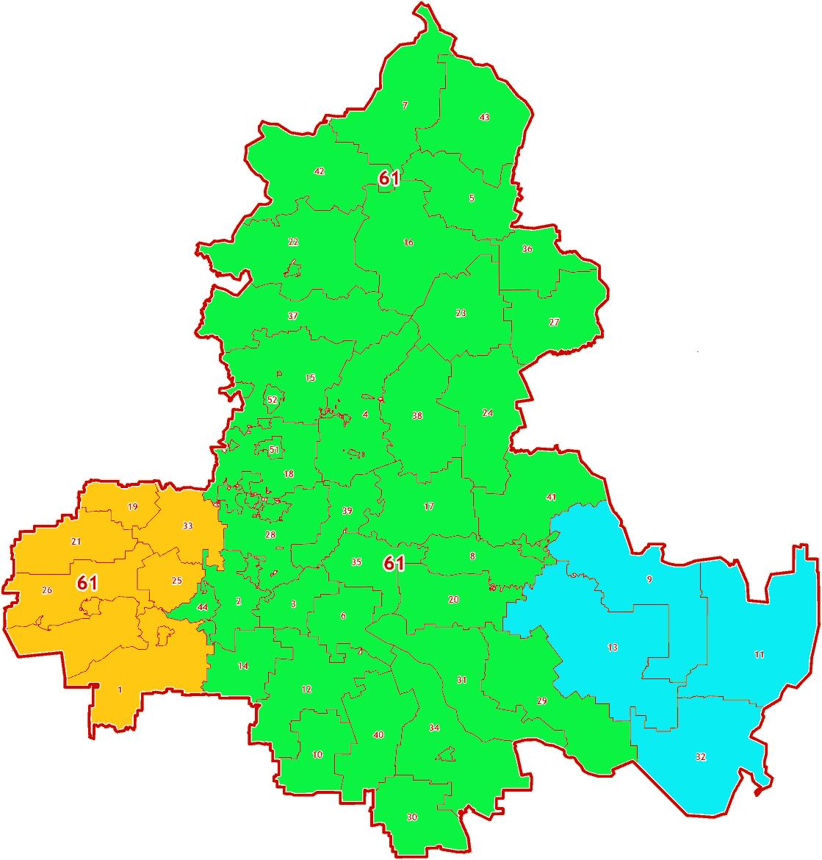 Зоны МСК-61 на территорию Ростовской области