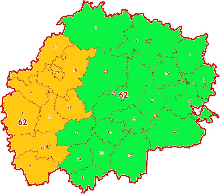 Зоны МСК-62 на территорию Рязанской области