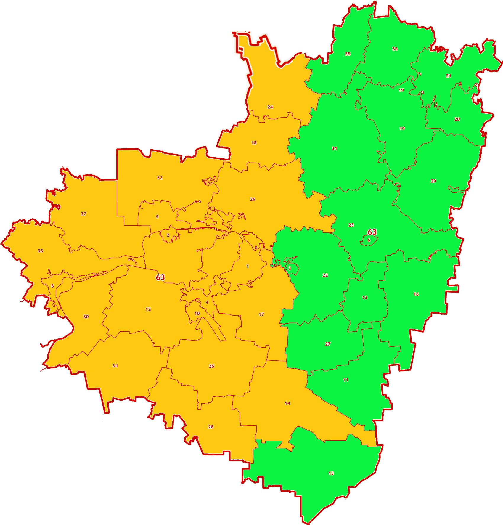 Зоны МСК-63 на территорию Самарской области