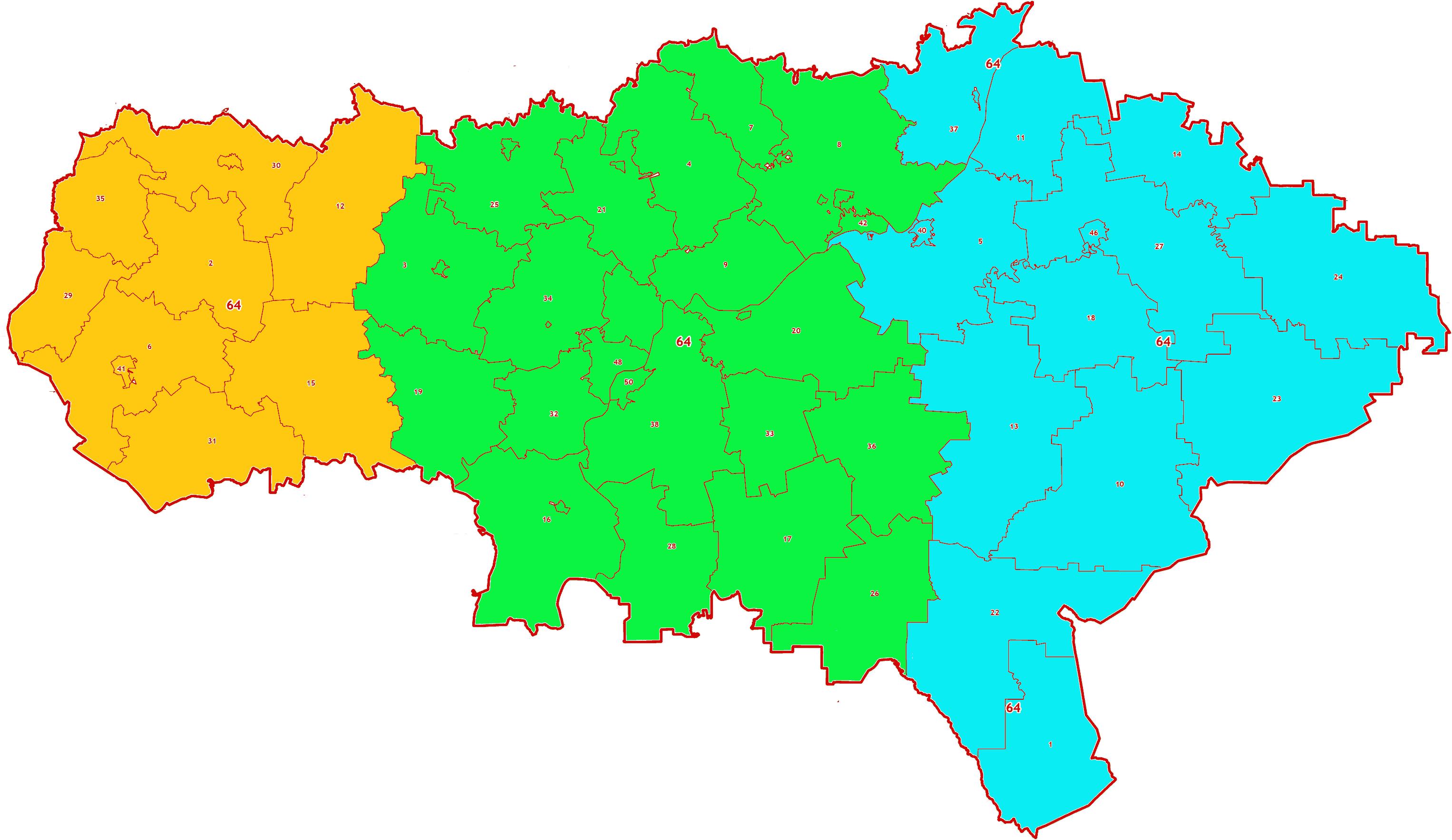 Зоны МСК-64 на территорию Саратовской области