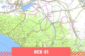 Карта Республики Адыгея