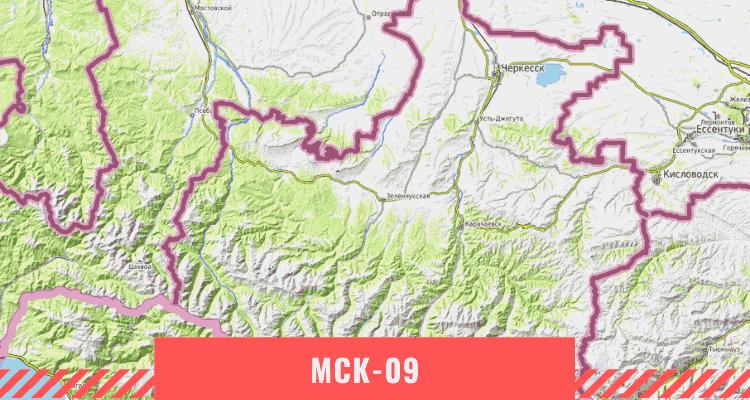 Карта Республики Карачаево-Черкесия