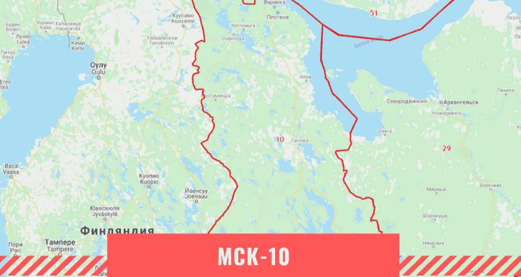 Карта Республики Карелия