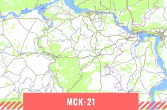 Карта Республики Чувашия
