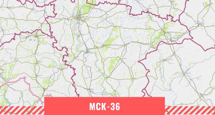 Карта Воронежской области
