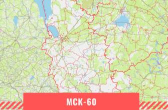 Карта Псковской области