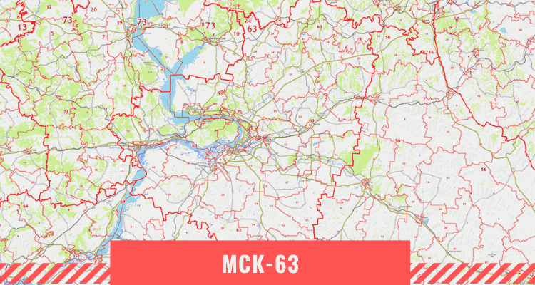 Карта Самарской области