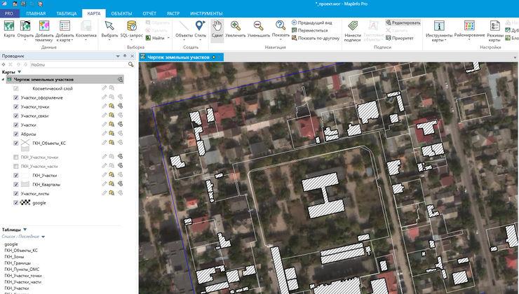 Перепроецирование данных в MapInfo