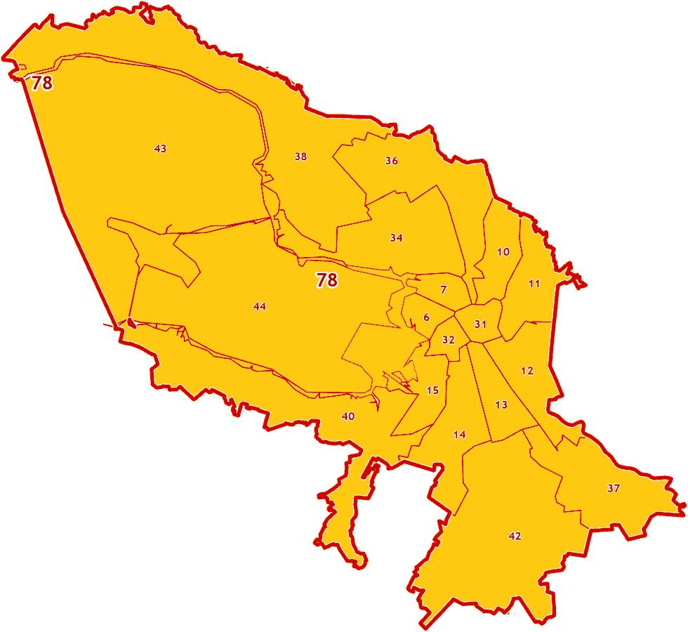 Зоны МСК-1964 на территорию города Санкт-Петербург