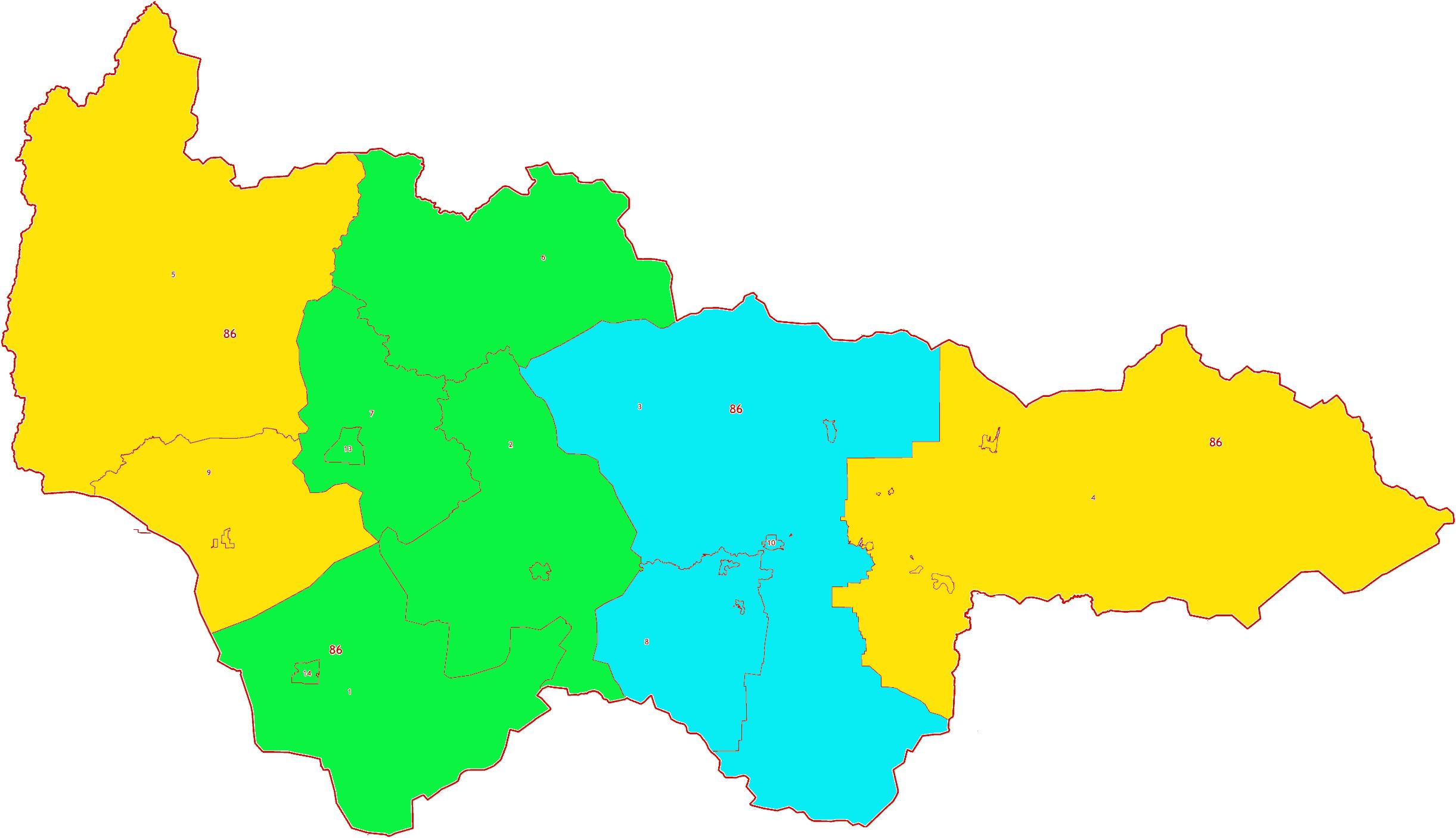 Зоны МСК-86 на территорию Ханты-Мансийского автономного округа