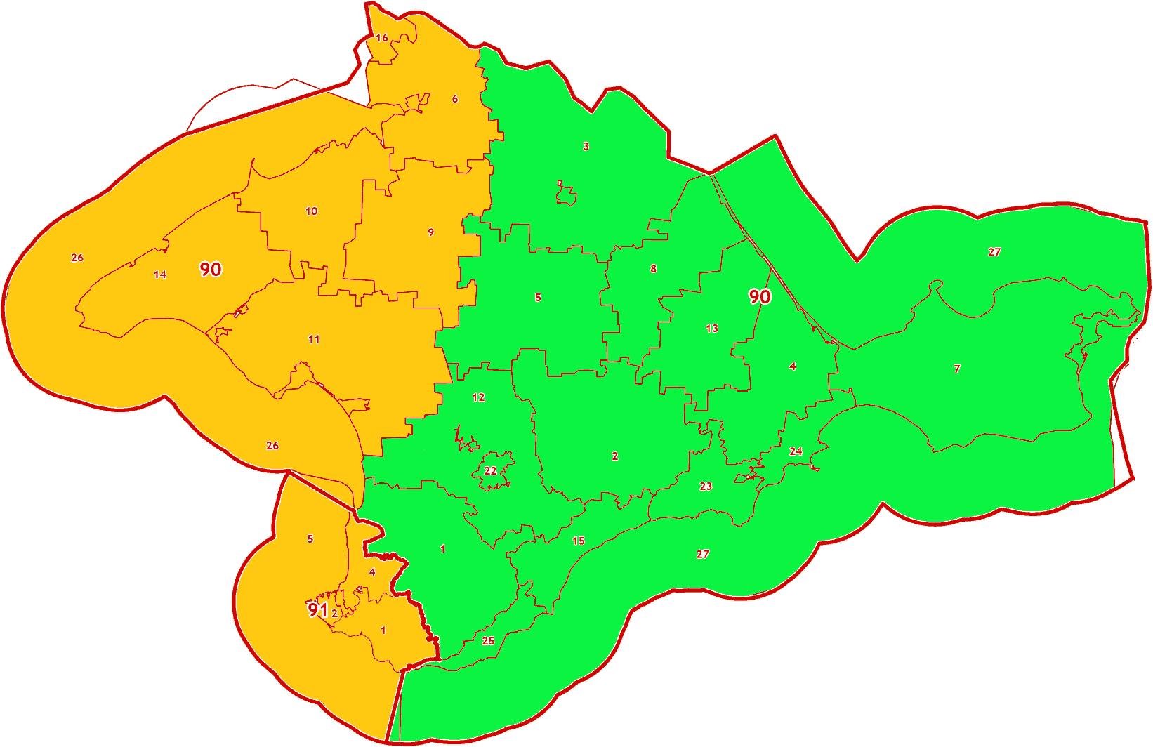 Зоны МСК-90,91 на территорию Республики Крым и города Севастополь