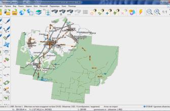 Векторная карта поселения