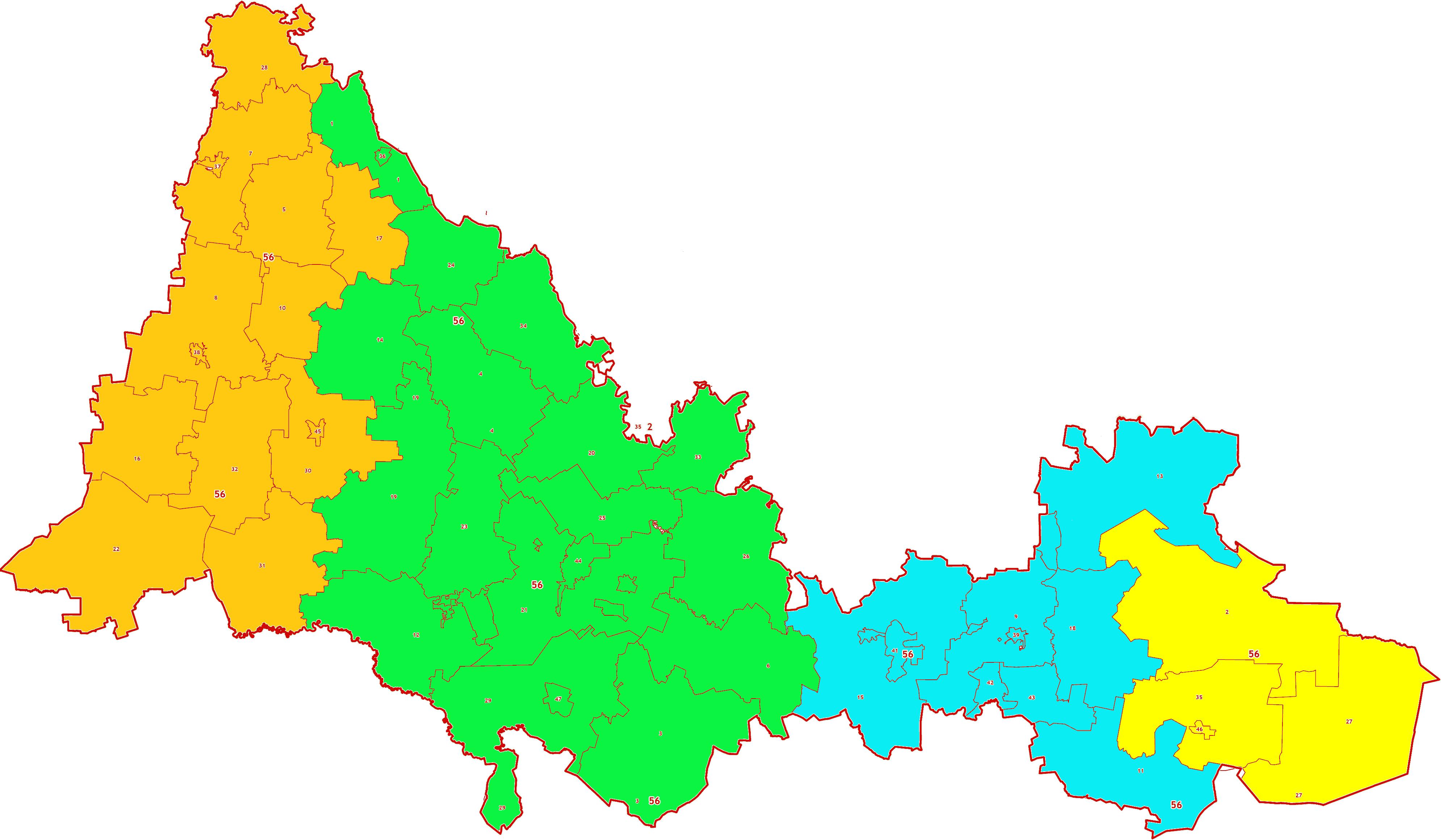 Зоны МСК-56 Оренбургской области