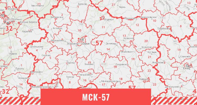 Кадастровая карта Орловской области