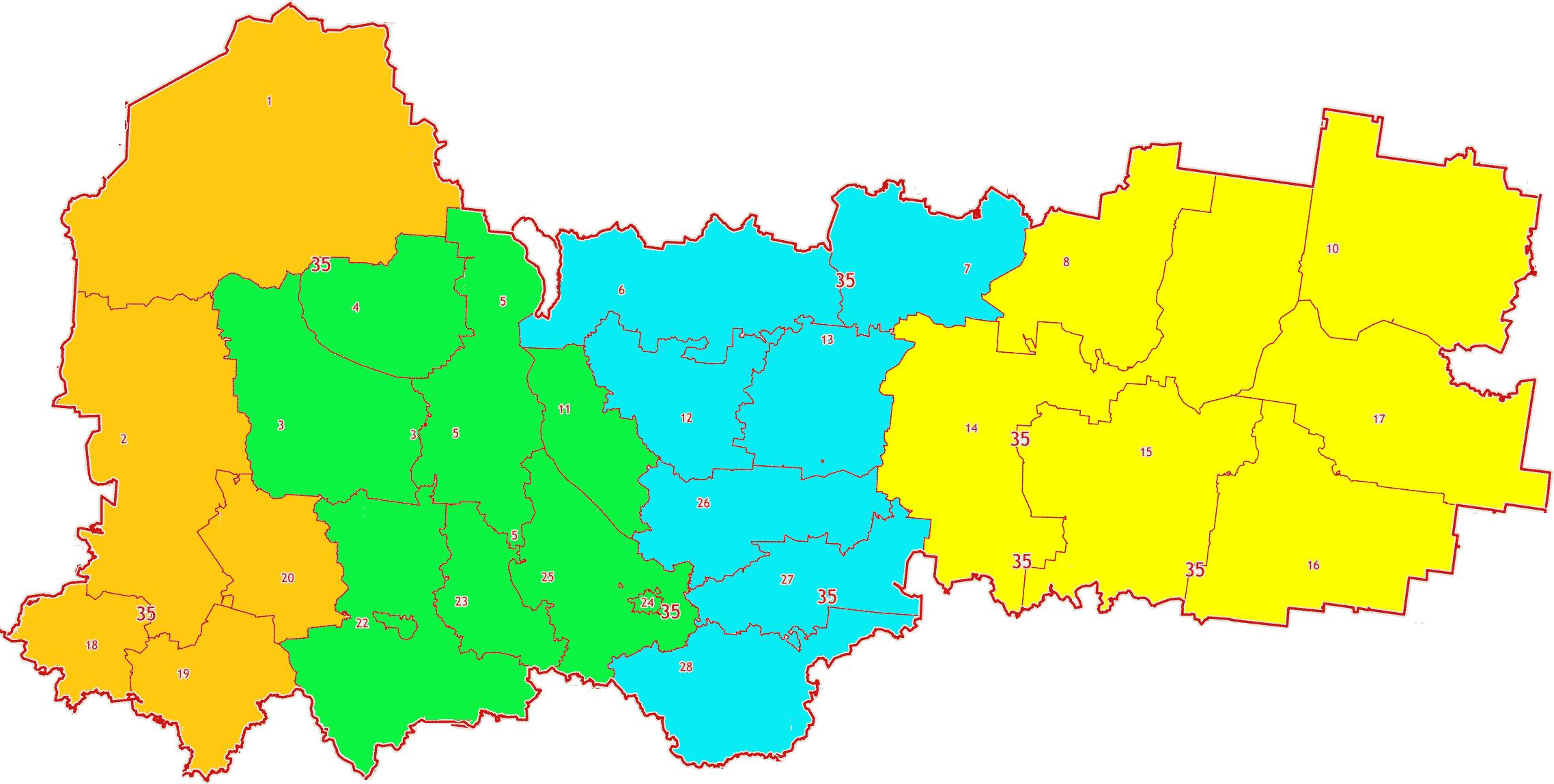 Карта зон МСК-35 Вологодской области