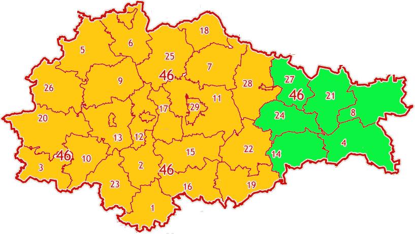 Карта зон МСК-46 Курской области