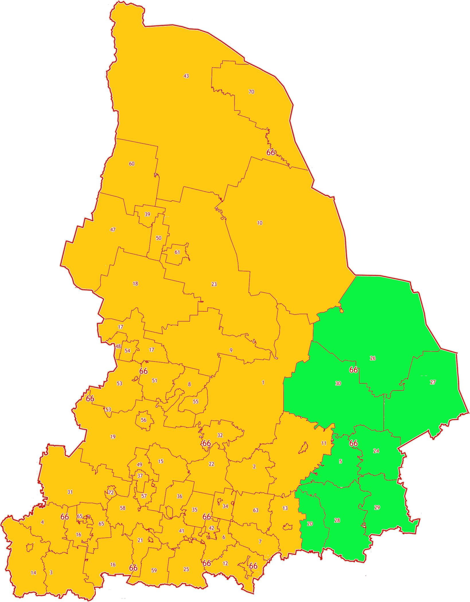 Карта зон МСК-66 Свердловской области